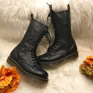 Dr. Martens Black Original Combat Lace Up Boots